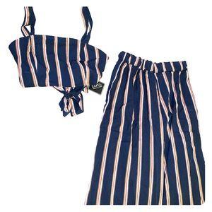 Matching set crop top and pants